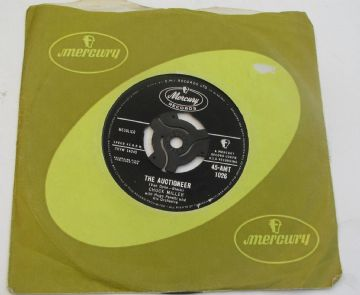"Chuck Miller THE AUCTIONEER 1958 UK 7"" ROCK & ROLL EX+ AUDIO"